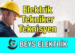 Elektrik Teknikeri Teknisyeni Alınacaktır