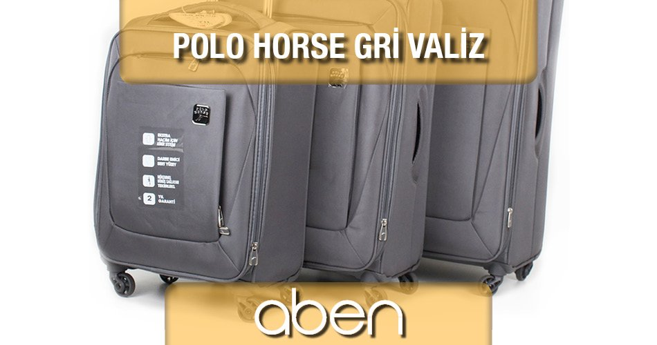Polo Horse Gri Bavul Seti