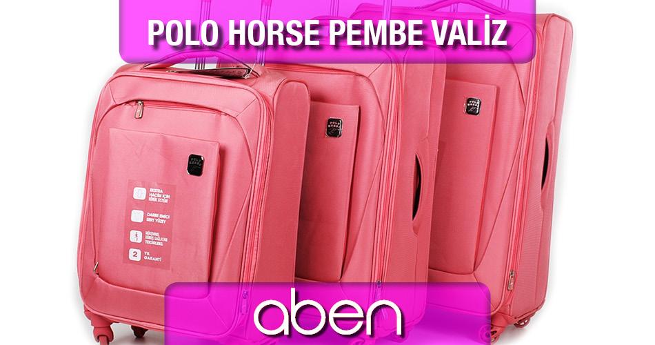Polo Horse Pembe Valiz