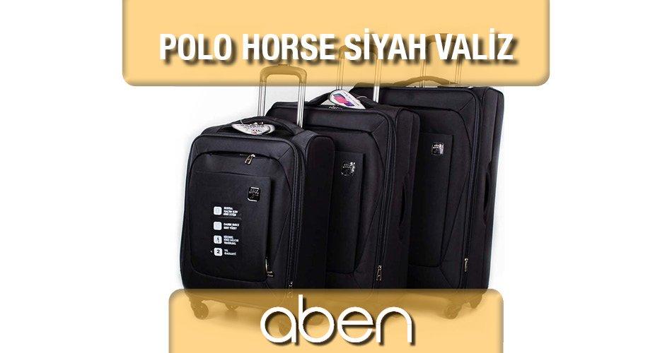 Polo Horse Siyah Valiz Seti