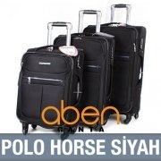 Polo Horse Siyah Ultra Lux Valiz