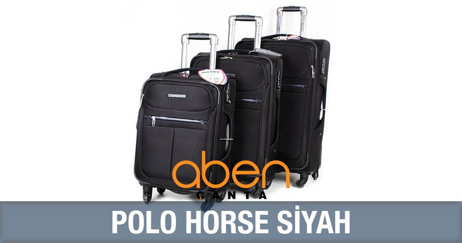 Polo Horse Siyah Ultra Lux Valiz