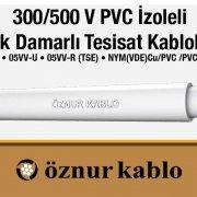 300/500 V PVC Çok Damarlı Tesisat Kabloları