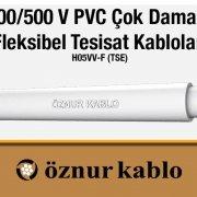 300/500 V PVC Çok Damarlı Fleksibel Tesisat Kablolar