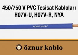 450/750 V PVC Tesisat Kabloları H07V-U, H07V-R, NYA (VDE)