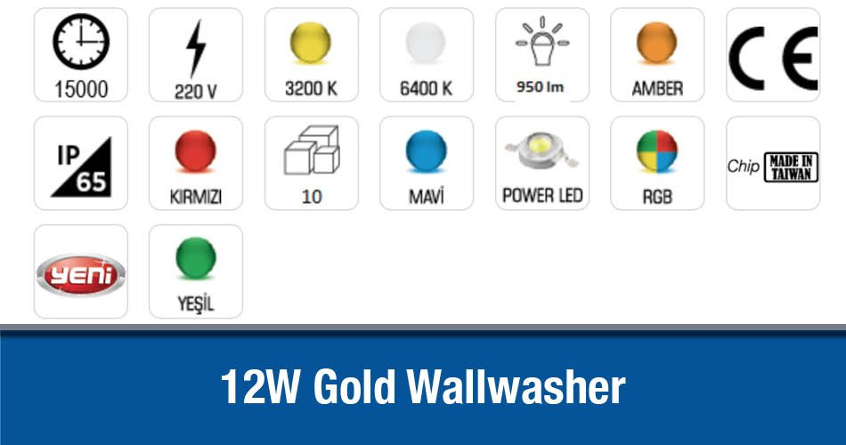 12W Gold Wallwasher CT-4695