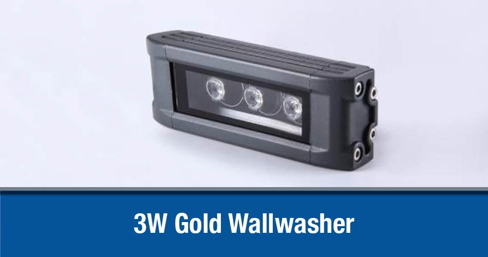 3W Gold Wallwasher