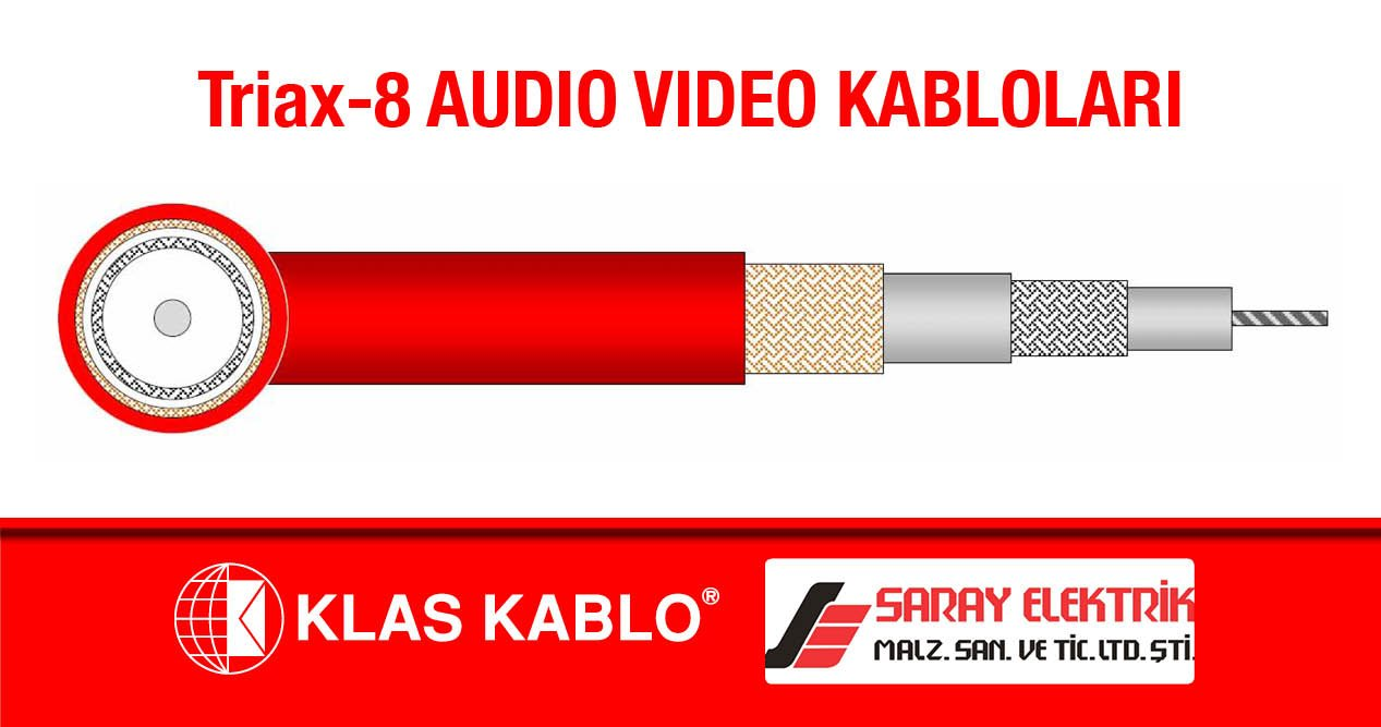TRIAX-8 Audio Video Kabloları
