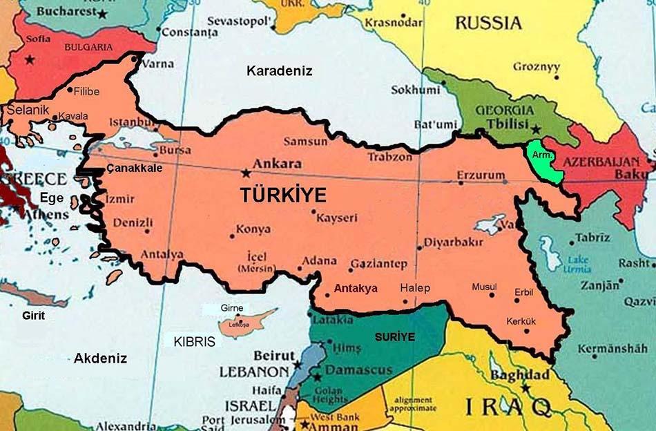 Misak-ı Milli Haritası