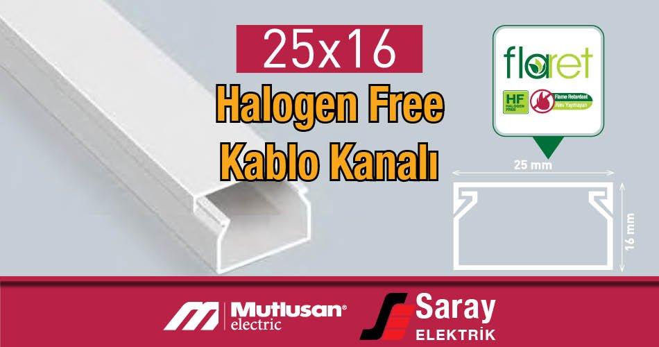 25x16 Halogen Free Kablo Kanalı