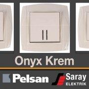 Pelsan Onyx Krem Anahtar Priz