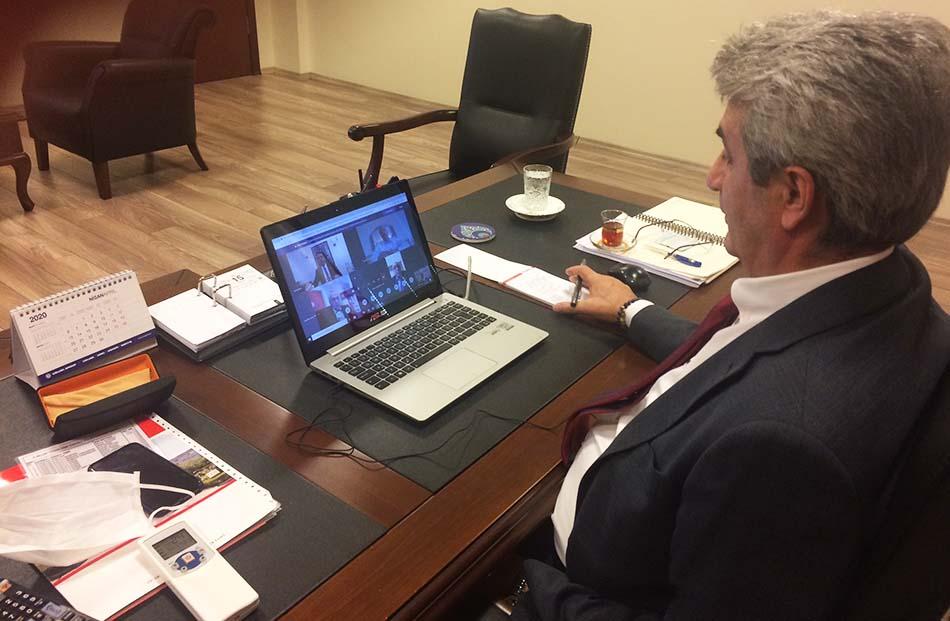 İBB Ticaret Masası Video Konferans Ekrem İmamoğlu