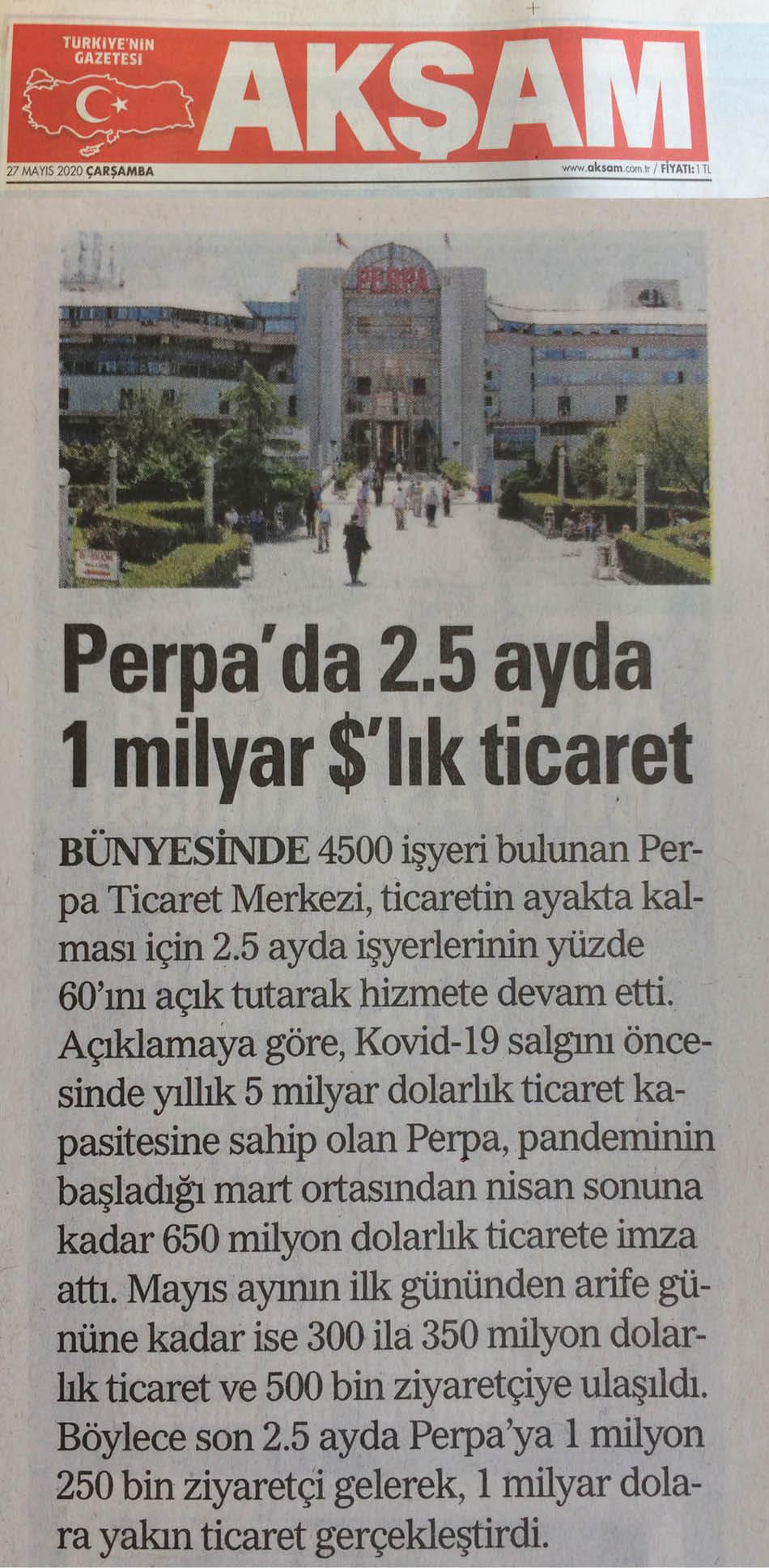 Akşam Gazetesi Perpa