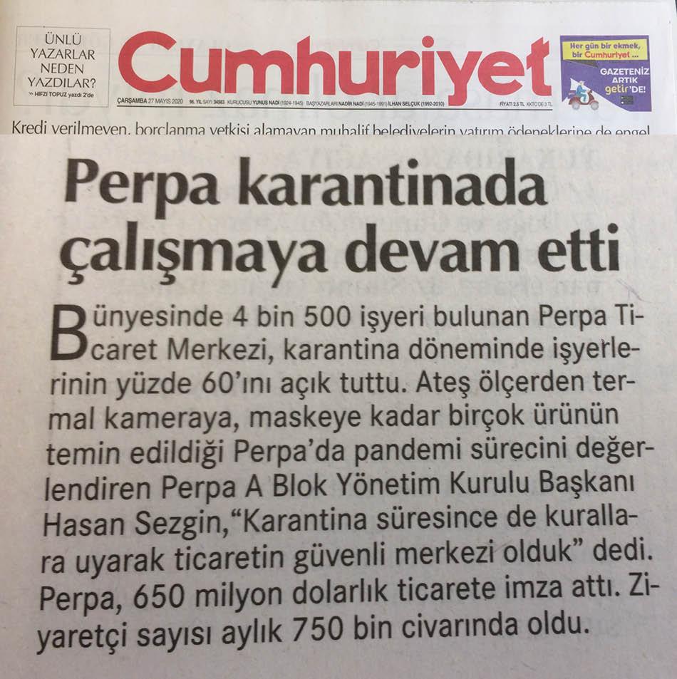 Cumhuriyet Gazetesi Perpa