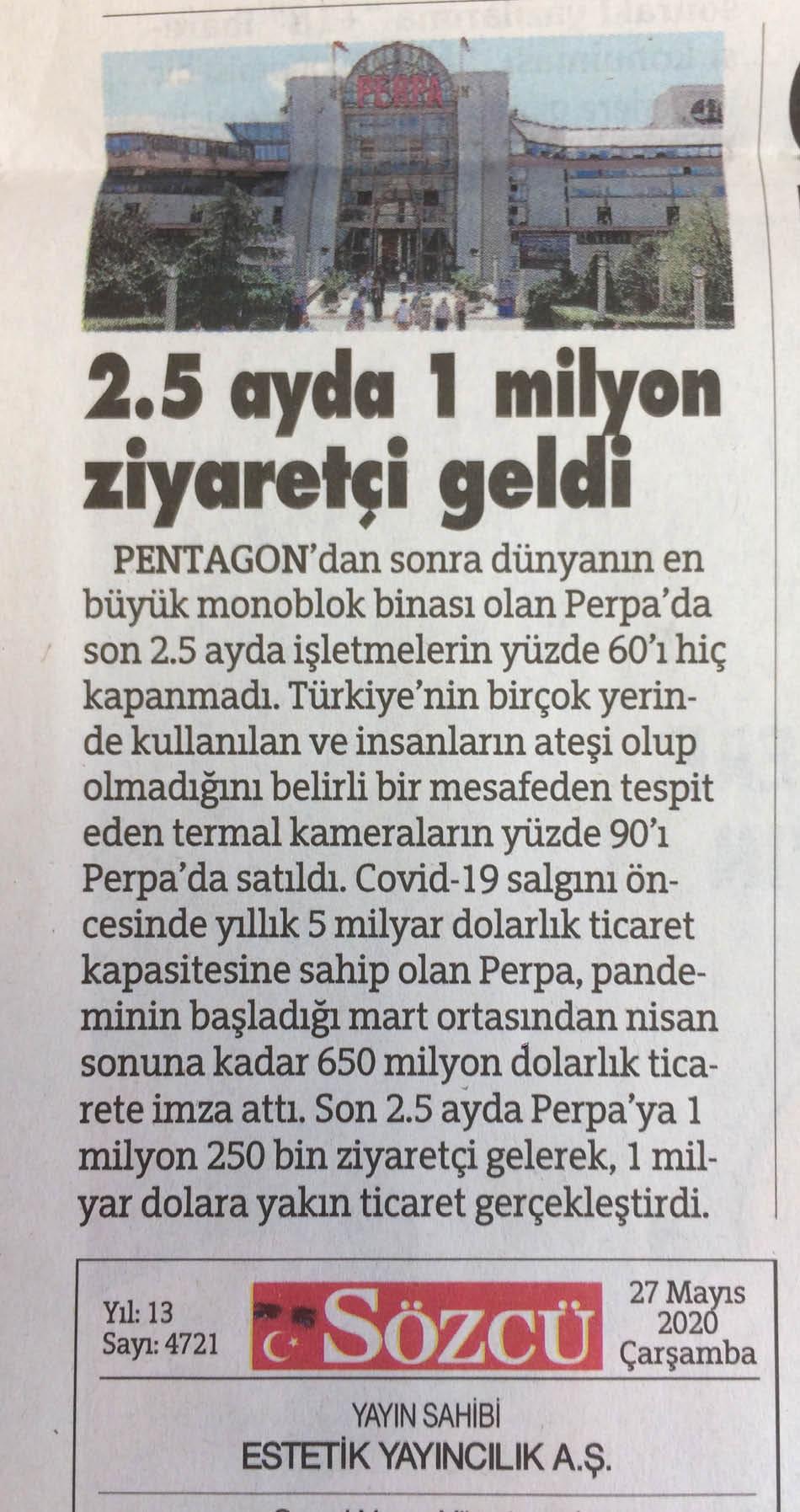 Sözcü Gazetesi Perpa