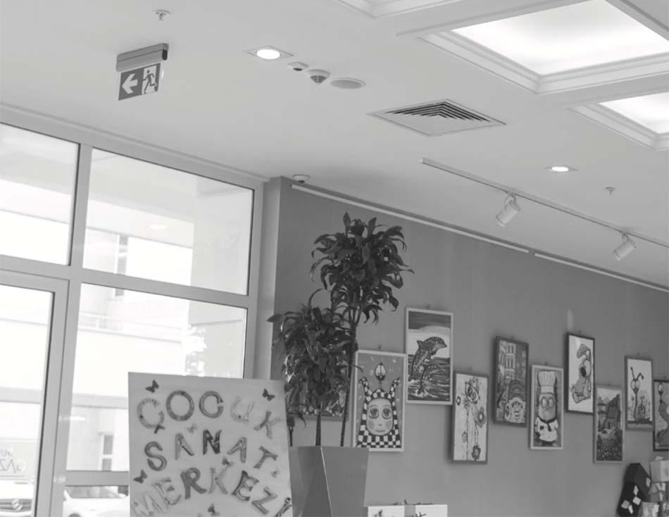 Çocuk sanat merkezi sıva altı acil yönlendirme uygulaması