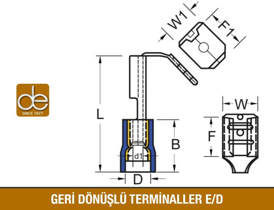 Geri Dönüşlü Terminaller Teknik Çizim