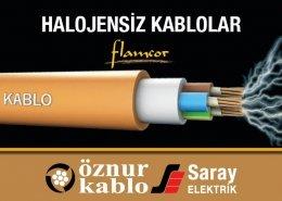 Halojensiz Kablolar Alev İletmeyen Kablolar Öznur Kablo