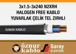 3x1-3x240 Halogen Free Kablol NX2RH