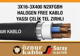 3X16-3X400 N2XFGBH Halogen Free Kablolar