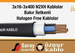3x16-3x400 N2XH Halogen Free Kablolar