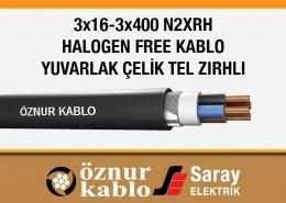 3x16-3x400 Halogen Free Kablolar