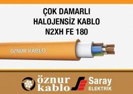 Çok Damarlı Halojensiz Kablolar N2XH FE 180