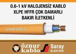 XLPE İzoleli Halojensiz Kablolar