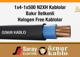 1x4-1x500 N2XH Halogen Free Kablolar
