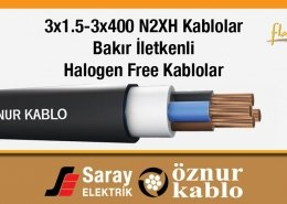 3x1.5-3x400 N2XH Kablolar