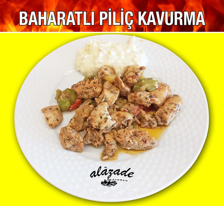 Baharatlı Piliç Kavurma Alazade Restoran