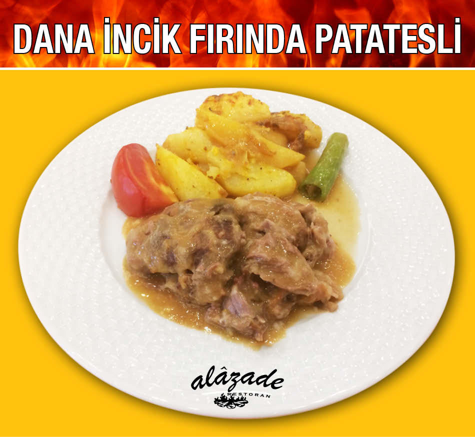 Alazade Dana İncik Fırında Patatesli