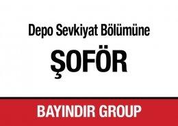 Depo Sevkiyat Bölümüne Şoför Bayındır Group