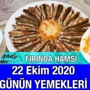 22 Ekim 2020 Günün Menüsü Alazade Restoran