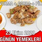 Alazade Restoran 23 Ekim 2020 Günün Menüsü