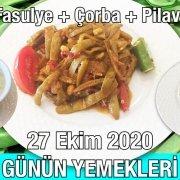 Alazade Restoran 27 Ekim 2020 Günün Menüsü