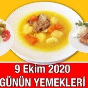 9 Ekim 2020 Günün Menüsü Alazade Restoran