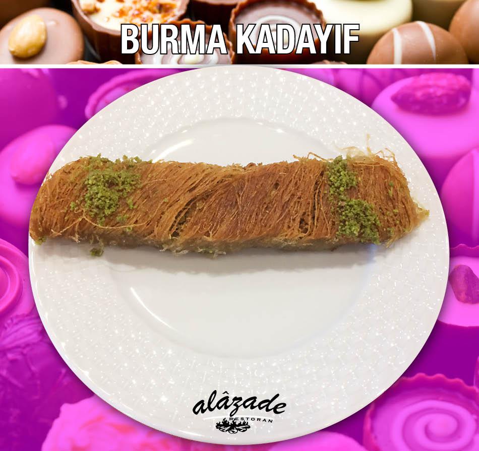 Burma Kadayıf Tatlısı Alazade Restoran