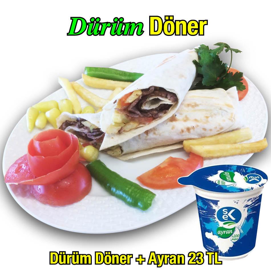 Alazade Restoran Dürüm Döner Ayran 23 TL
