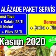 Alazade Restoran 25 Kasım 2020 Günün Menüsü