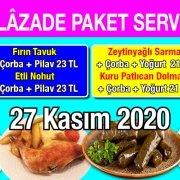 Alazade Restoran 27 Kasım 2020 Günün Menüsü