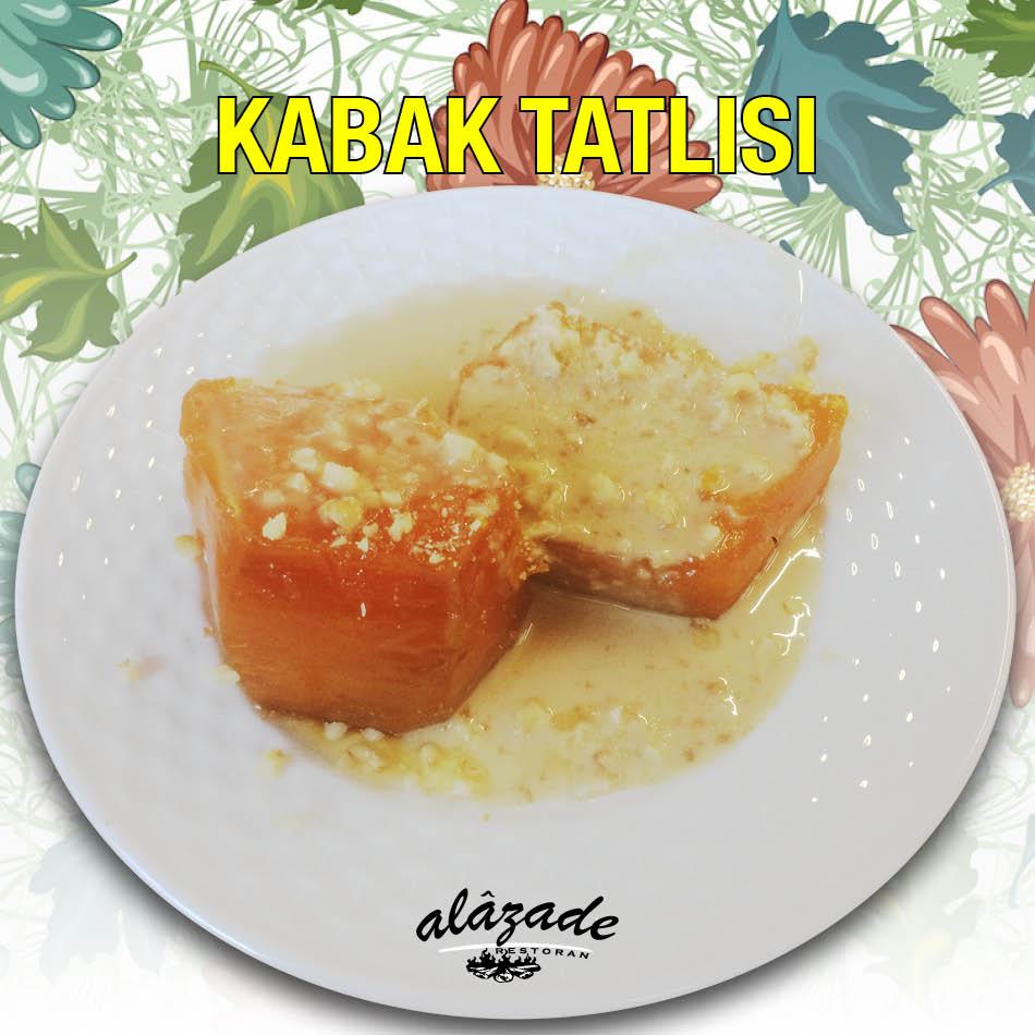 Alazade Restoran Kabak Tatlısı Tahinli Cevizli