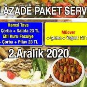Alazade Restoran 2 Aralık 2020 Günün Menüsü