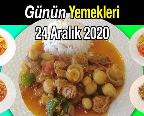 Alazade Restoran 24 Aralık 2020 Günün Menüsü