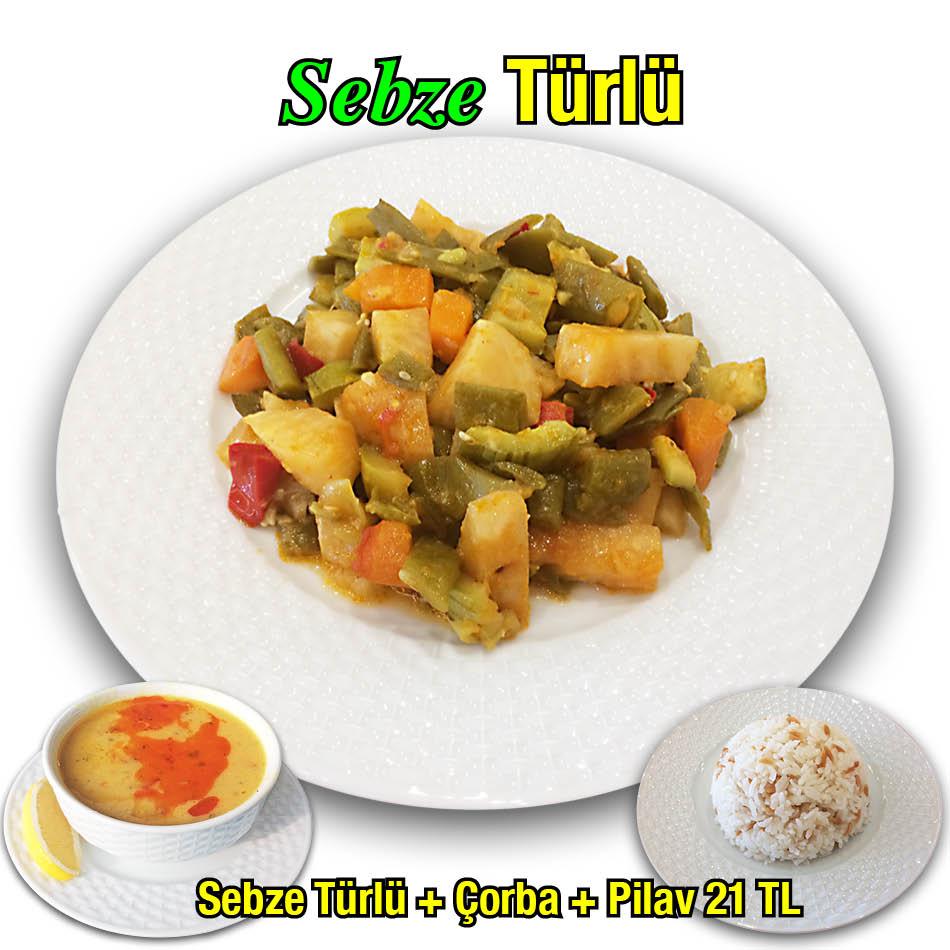 Alazade Restoran Sebze Türlü Menü