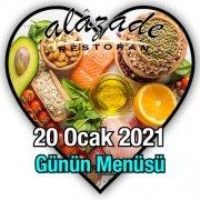 Alazade Restoran 20 Ocak Günün Menüleri