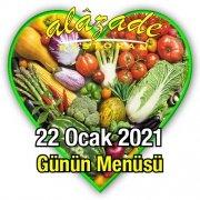Alazade Restoran 22 Ocak Günün Menüsü
