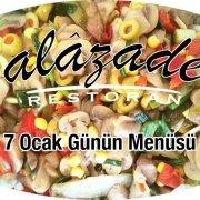 Alazade Restoran 7 Ocak 2021 Günün Menüleri