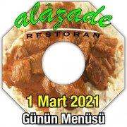 Alazade Restoran 1 Mart Menü