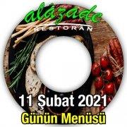 Alazade Restoran 11 Şubat Menü